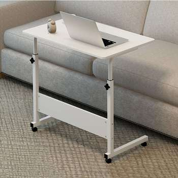 80x40CM Computer Table Height Adjustable Portable Laptop Desk Rotate Laptop Bed Table Can be Lifted Standing Desk With Wheel image