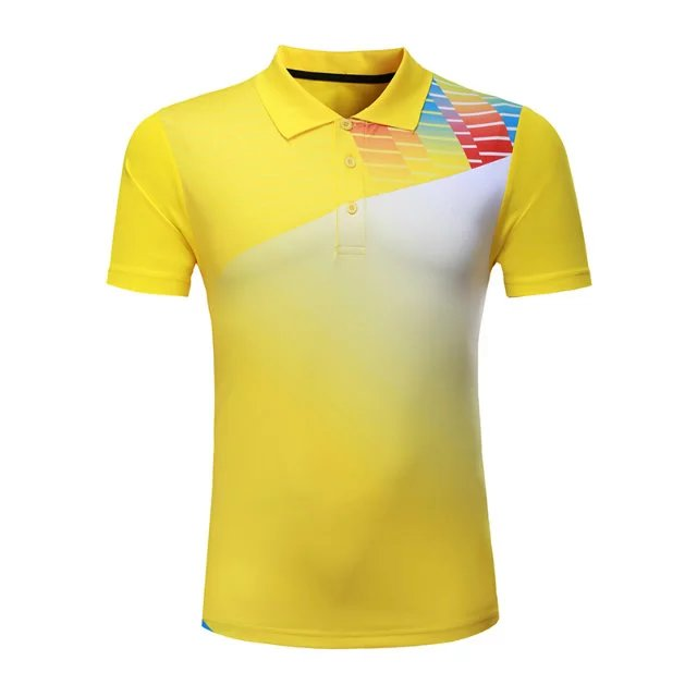 Профессиональная быстросохнущая рубашка для игры в бадминтон для мужчин и женщин, теннисная футболка s, спортивная рубашка поло для гольфа, футболка для пинг-понга-4