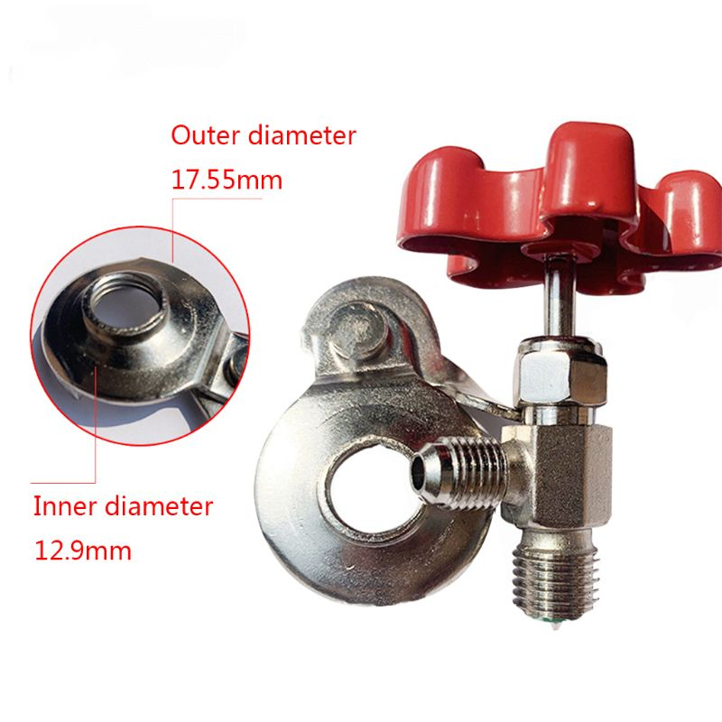 <font><b>Auto</b></font> R134a Air Refrigerant <font><b>AC</b></font> Can Tap Valve Bottle Opener <font><b>Tool</b></font> With Red Cap AP image