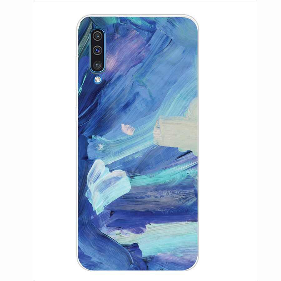 Чехол с принтом для мобильного телефона samsung A50, аксессуары, мягкий силиконовый чехол из ТПУ, чехол Funda I058