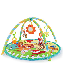Multifunctional Fitness Frame Round Play Crawling Mat 0-12 Months Baby Puzzle Game Blanket Fun Sounding Pendant Gift For Kid