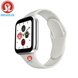 Image 3 - Bluetooth Smart Uhr Serie 6 44MM Mann Frau Smartwatch für Apple Uhr iPhone Android Telefon Fitness Tracker Update IWO 8 9 12