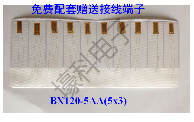 10 Pieces Resistance Strain Gauges / Room Temperature Strain Gauge BX120-5AA (5X3)