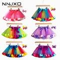 2020 новая юбка-пачка для маленьких девочек одежда 12M-8Yrs красочные мини юбка с подъюбником; Вечерние танцевальные радужные фатиновые юбки; Оде...