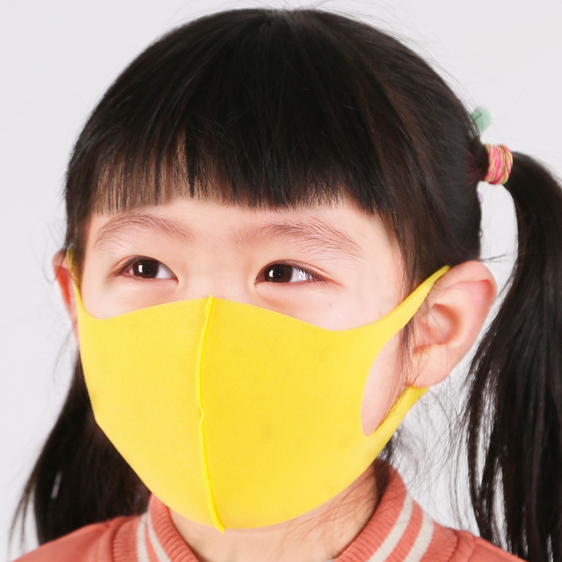 Napkin Paper Child Face Mask For Kids Anti PM2.5 Dustproof Smoke Pollution Yellow  Mask With Earloop Washable Respirator Mask