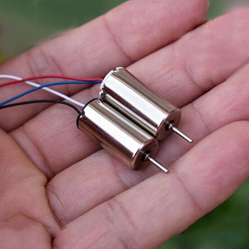 2pcs 1020 10mm*20mm Mini Coreless Motor DC 6V-11.1V 21000RPM-49500RPM High Speed DIY RC Drone