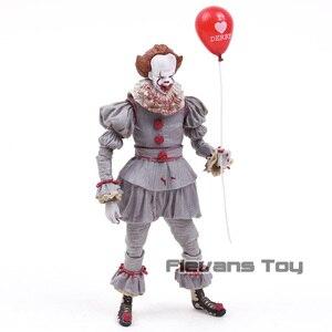 Image 3 - NECA Stephen King to Clown Pennywise Horror figurka Model kolekcjonerski