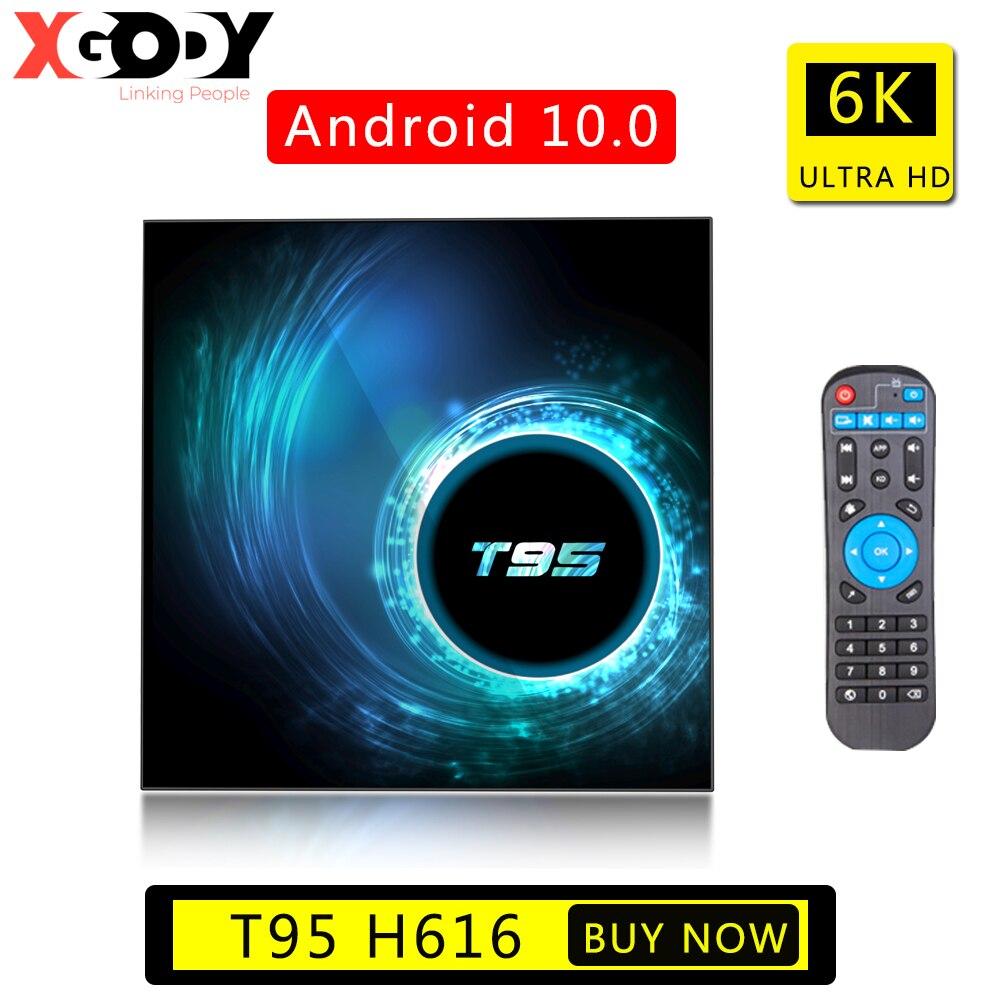 XGODY NEUE TV Box Android 10.0 Netflix Youtube HD 6K Android TV Box Google Stimme Assistent LEMADO Smart TV Box 9 unterstützung Brasilien