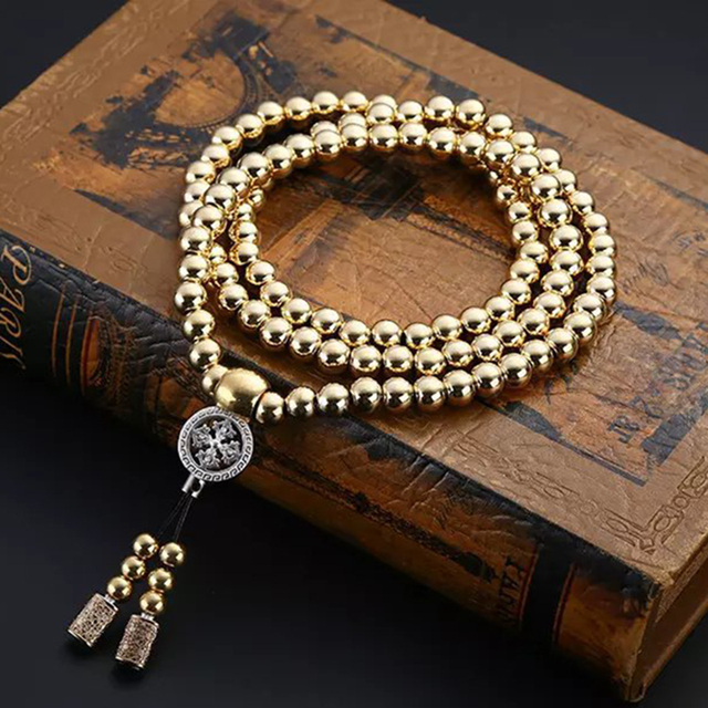 Tactical Buddha Beads Bracelet Whip Kung Fu Ti Steel Short Martial Arts Whip