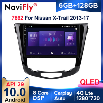 Navifly 1280*720QLED scree 2DIN Car Radio Multimedia Video Player For Nissan QashQai X-Trail 2013 2014 2015 2016 2017 6+128G image