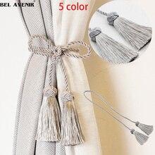 1 шт. Tieback занавес сплошной цвет подхваты для штор с кисточками для занавесок s 5 цветов полиэстер завязка спинки аксессуары для дома декоративные