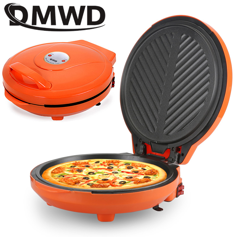 DMWD Multifunction Two Sides Electric Crepe Maker Pizza Pancake Machine Electric Grill Griddle Non Stick Roast Baking Pan EU US