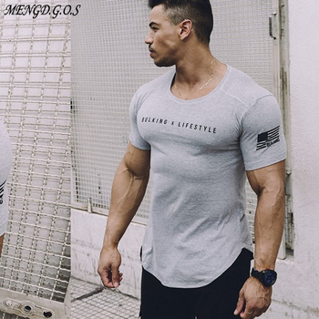 Mens Gyms t-shirt Fitness Bodybuilding Slim Cotton T-Shirts Men Short Sleeve Workout Male Casual Black O-Neck Tees Tops clothing gildan solid color cotton t shirts men clothing male slim fit t shirt man t shirts casual brand t shirt mens tops tees 63000