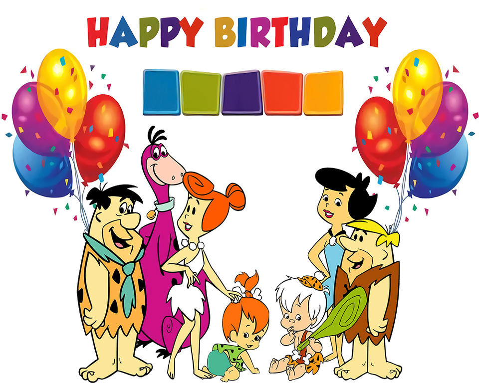 Dephoto Photography Backdrop Cartoon Characters Flintstones Birthday Party Baby Colorful Balloon Photo Backdgrounds For Studio Background Aliexpress