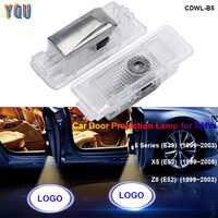 E39 E53 X5 Z8 E52 Luz de bienvenida LED Para puerta de Coche Luces Para Auto Interior proyector Logo Luces Coche Luz Carro Para BMW accesorios