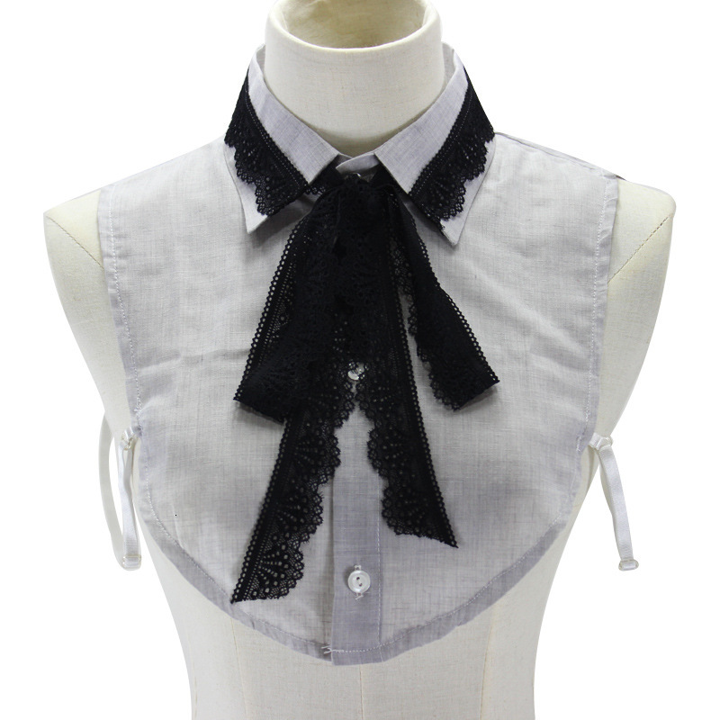 Lace Bow Cotton Shirt Women Lead Sweater Decoration Dickie Fake Collar Detachable New Free Shipping Necklace