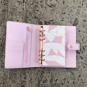 Cute A6 Size 6 Rings Binder Agenda Journal Diary planner Notebooks Organizer