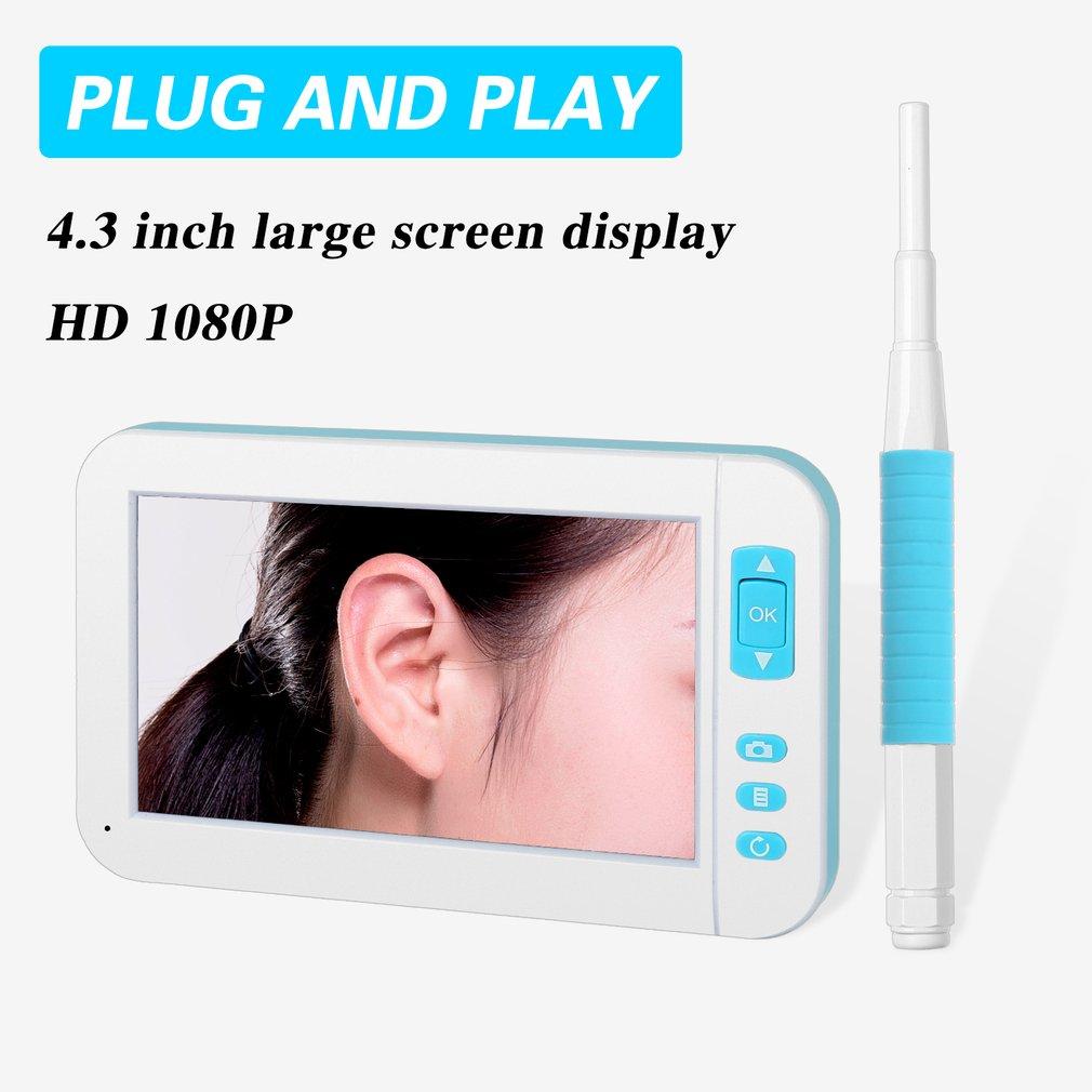 Hd 1080P ушной очиститель отоскоп Мини визуальный эндоскоп широкий экран ручной эндоскоп бороскоп видео осмотр для P20