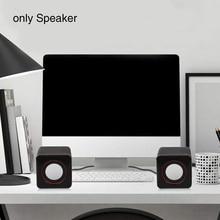Музыкальный офис для ПК с USB кабелем квадратный портативный мини динамик ноутбук Настольный домашний аудио стерео игровой проводной