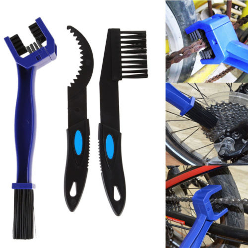 3 In 1 Motorcycle Bicycle Chain Gear Cleaning Brush Scrubber Cleaner Tools Kits Q1108*20  Brush Cleaner Outdoor Cleaner Tools