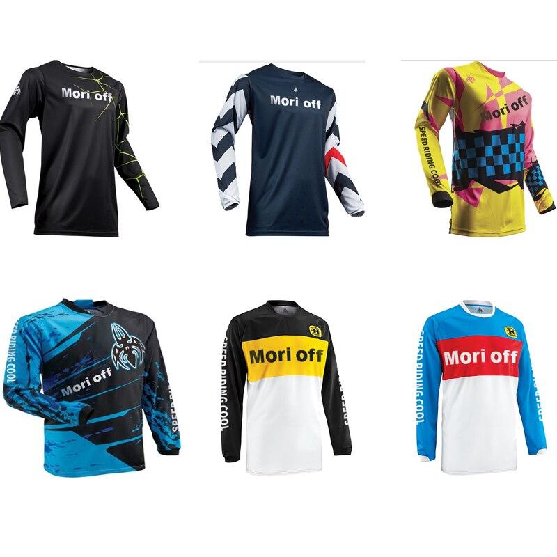 2021 Мужская велосипедная футболка, футболка для езды на велосипеде с длинным рукавом для езды на мотоцикле/MX/ATV/BMX внедорожник
