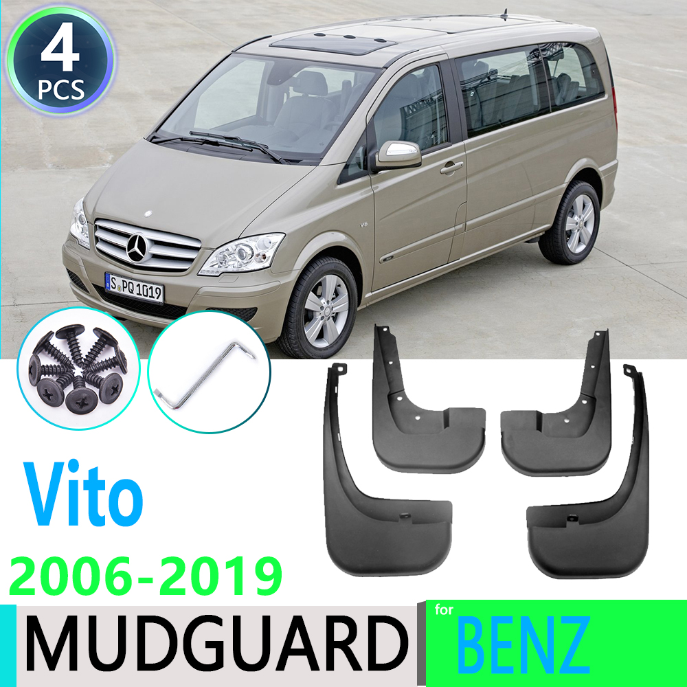 for Mercedes Benz Vito Viano V Class 2006~2019 W639 639 W447 447 Mudguard Mud Flaps Guard Splash Flap Mudguards Car Accessories image