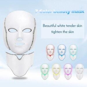 Image 1 - 7สีLed Light Faceหน้ากากคอฟื้นฟูผิวกระชับสิวAnti Wrinkle Beauty TreatmentเกาหลีPhoton Spaบ้าน