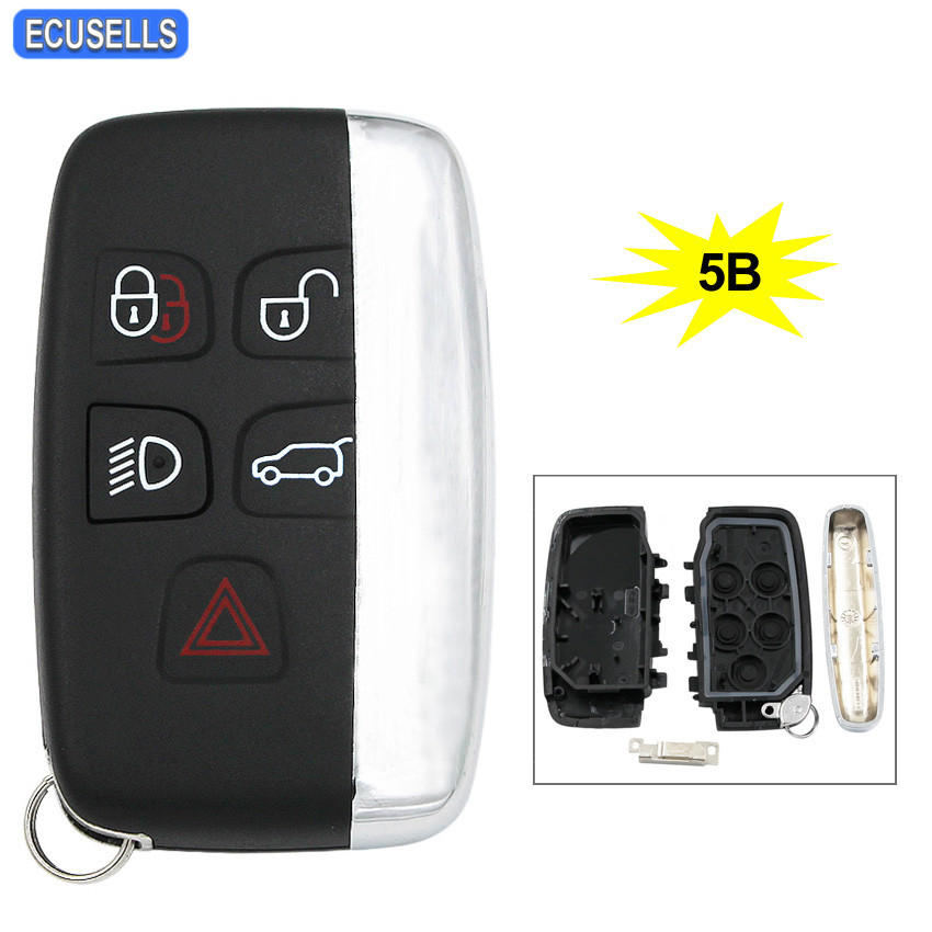 5 Button Remote Key Shell Case Smart Car Key Housing Cover Fob with Words for Land Rover LR4 for Range Rover Sport Evoque-in Key Shell from Automobiles & Motorcycles