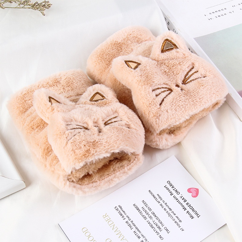 Soft kitty cartoon schöne handschuhe <font><b>winter</b></font> warme flip handschuh image