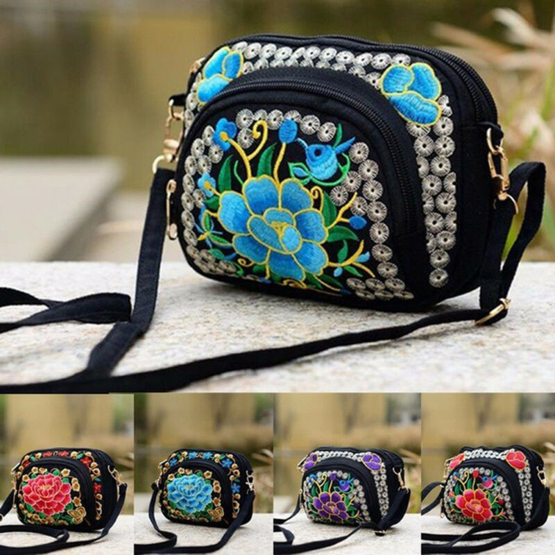 Vintage Women Handbag Hmong Vintage Tote Messenger Hippie Ethnic Shoulder Bag Embroidery Boho