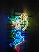 Neon Sign LED sign led BULB SUNSHINE wendding party Snake Neon Beer Sign Bar home Sign Real Glass Neon Light Beer Sign