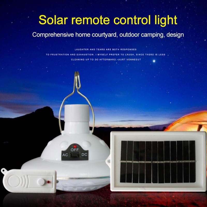 3 Modes LED Remote Control Tent Solar Charge Camping Light Outdoor Ultra Bright Rechargeable Emergency Lamp Hanging Hook Lantern
