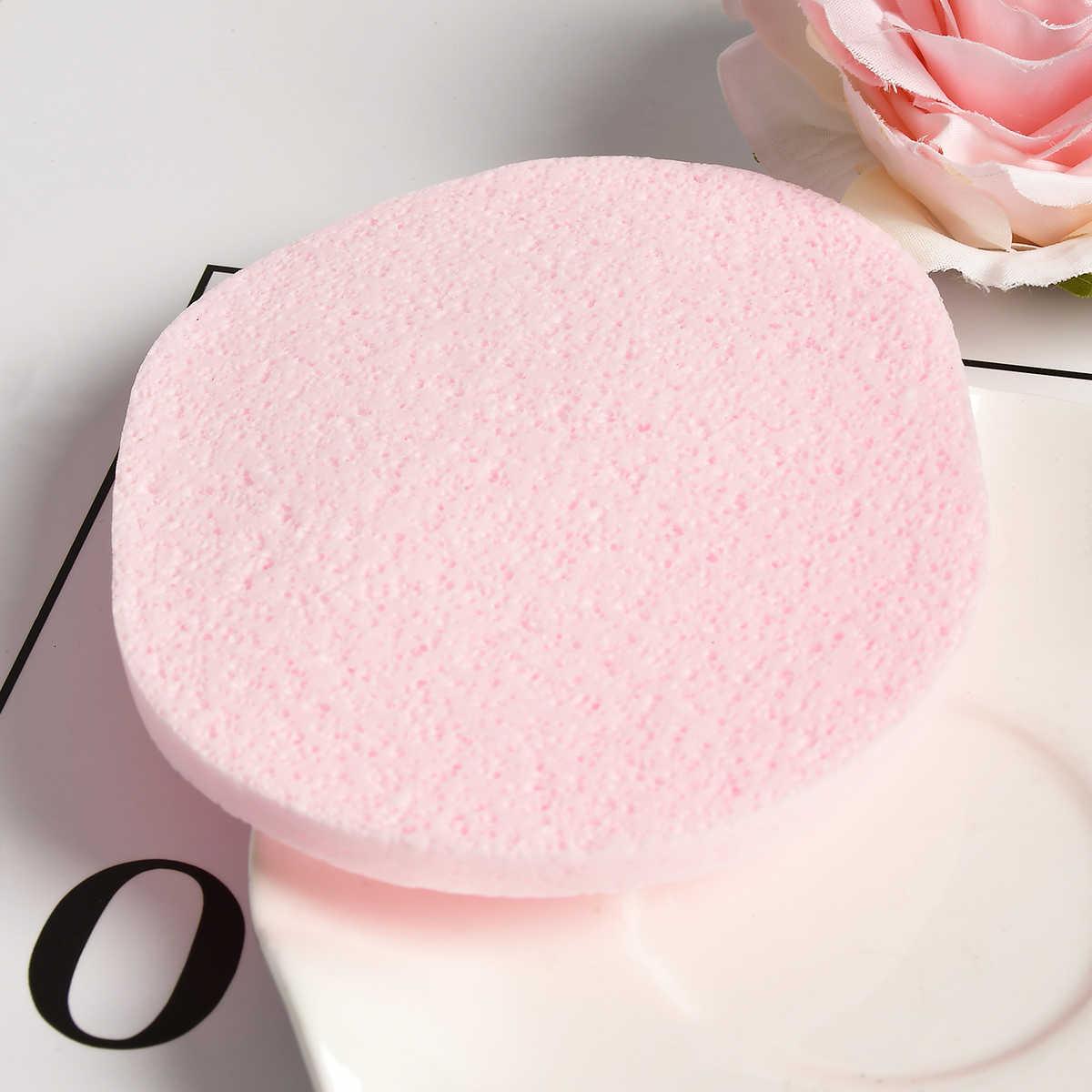 Haute qualité visage lavage produit naturel éponge visage lavage nettoyage rond éponge beauté maquillage outils nettoyage (couleur aléatoire)