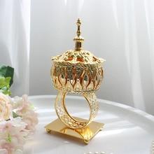 Маленькая Гальваническая золотая металлическая ладана горелки портативный фарфоровый курильщик буддизм ладан держатель домашний Чайный домик Йога студия