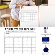 Magnet whiteboard Home Office Kitchen Fridge Calendar Magnet Dry Erase Board White Boards Wall Sticker Schedule Message Boards