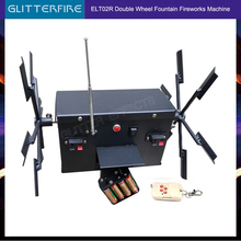 Remote control double wheel face windmill battery type fireworks firing stage cold fountain ignition system machine