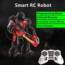 Multifunctional RC Intelligent Robot Voice Control Intelligent Dialogue Launching Missiles Puzzle Teaching Programming Mode Toy(China)