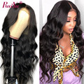 13x4 Body Wave Lace Front Wig 180 250% Glueless Brazilian 4x4 Body Wave Human Hair Closure Wig For Women Remy Hair Natural Color