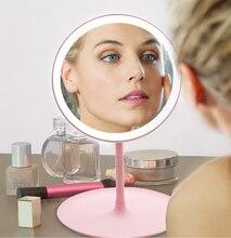 Lustro biurkowe z lampą pierścieniową do makijażu
