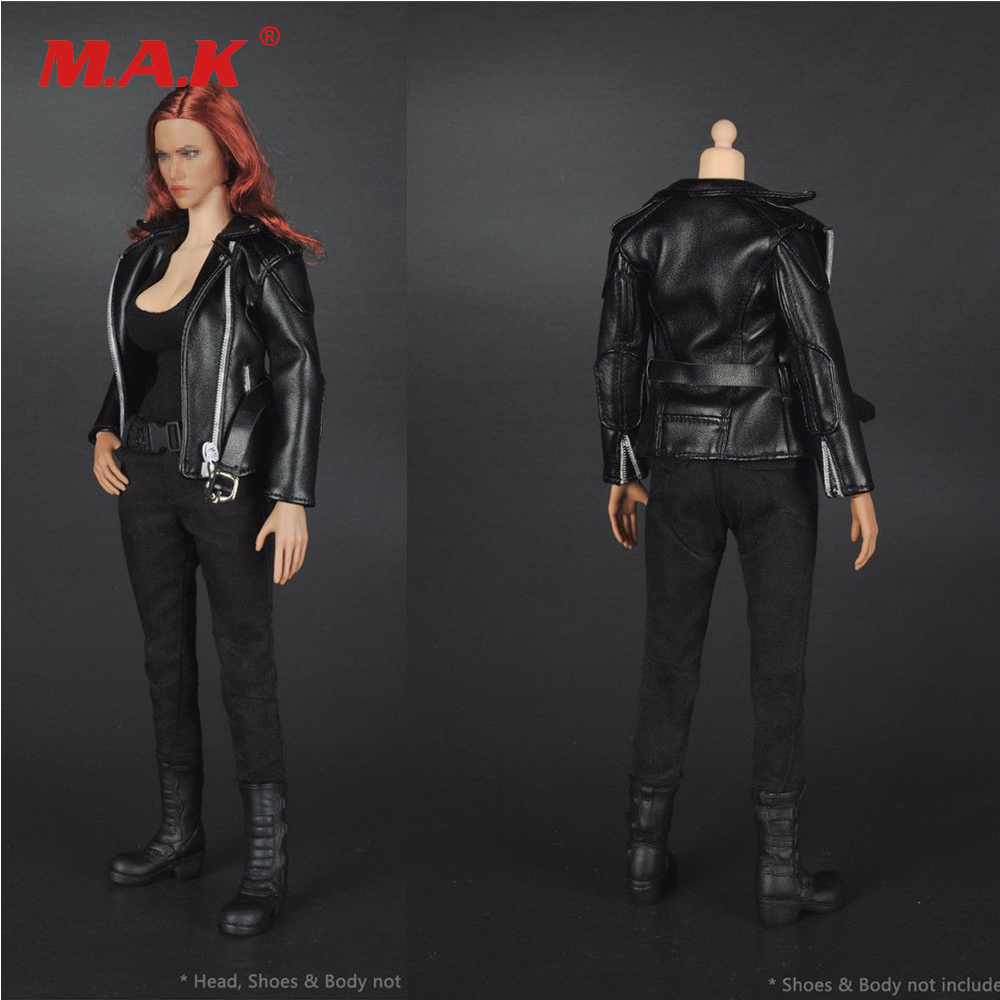 """1//6 Shirt /& Leather Jacket For 12/""""   TBL HT Female Action Figures"""