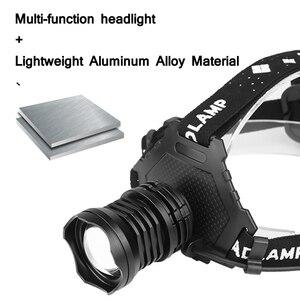 Image 4 - ほとんどの強力な XHP90.2 Led ヘッドランプ 8000LM ヘッドランプ USB 充電式ヘッドライト防水 Zooma 集魚灯使用 18650 バッテリー