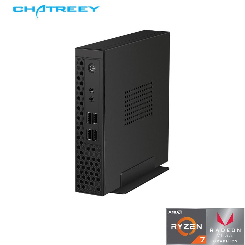 Chatreey S1 mini pc AMD Ryzen R3 3200G R5 3400G dual sodimm DDR4 core i3 9100 i5 9400 ITX desktop delgada cliente