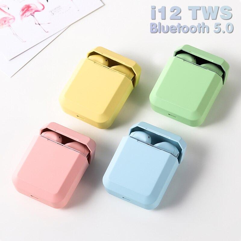 Оригинальные наушники i12 TWS, Беспроводные стереонаушники Bluetooth, наушники-вкладыши, гарнитура с зарядным боксом для iPhone Android i9s i2