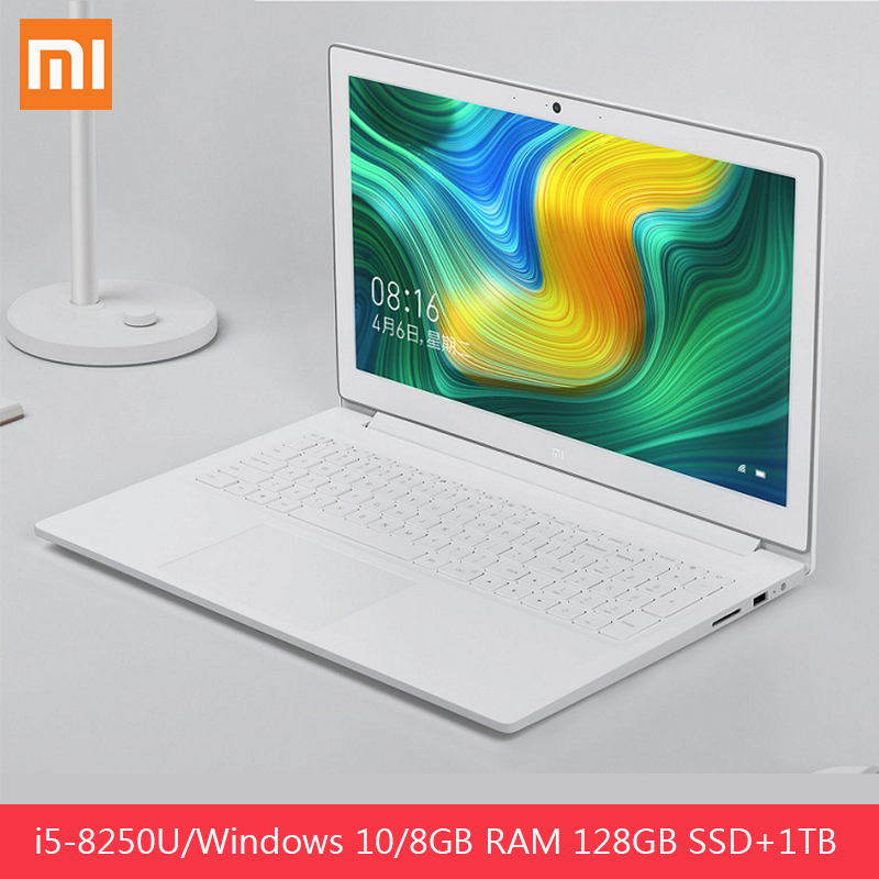 Original Xiaomi Mi Notebook 15.6inch Windows 10 Home Intel Core I5-8250H GeForce MX110 Quad Core 8GB RAM 128GB SSD 1TB HDD HDMI