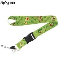 Flyingbee Cute Avocado Keychain Cartoon fruit Phone Lanyard Women Fashion Strap Neck Lanyards for ID Card Keys X0474