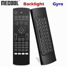 MX3 rétro éclairage clavier télécommande Air Fly souris 2.4G sans fil Mini clavier 81 touches avec apprentissage IR pour Android TV Box