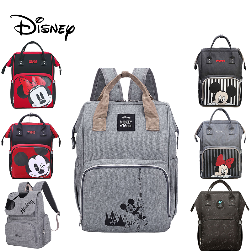 Disney Diaper Backpack Baby Bags For Mom Fashion Mummy Maternity Diaper Organizer Mickey Minnie Stroller Wet Bag For Cart Pram