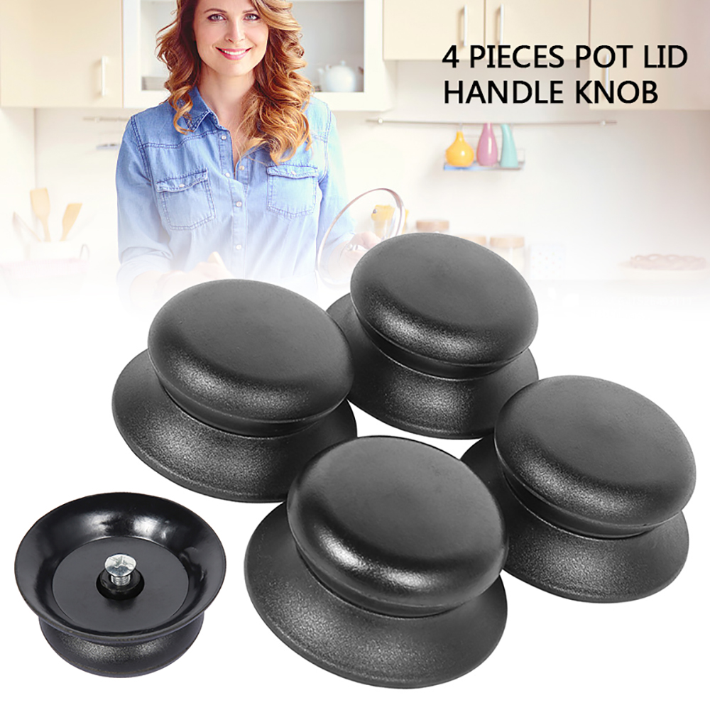 4pcs Universal Kitchen Cookware Replacement Utensil Pot Pan Lid Cover Circular Holding Knob Screw Handle