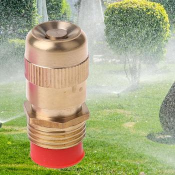 1/2 Inch Adjustable Fine Mist Water Spray Nozzle Sprinkler Lawn Gardening Watering Cooling Systems Tool 4 points alloy nozzle automatic rotation lawn watering gardening watering cooling agricultural spray irrigation