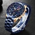 LIGE Herren Uhren Top Brand Luxury Business Edelstahl Wasserdicht Chronograph Männlichen Quarz Uhr Uhr Männer Relogio Masculino
